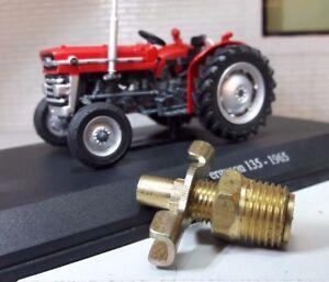 Tractor Radiator Engine Block Drain Tap Brass 1/4 BSP MF Massey Ferguson Ford