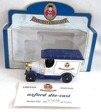 OXFORD DIECAST BULL NOSE MORRIS VAN DIECAST WHITE / BLUE BOXED LIMITED EDITION