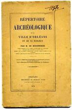 Répertoire archéologique de la ville d'Orléans et de sa banlieue de Buzonnière