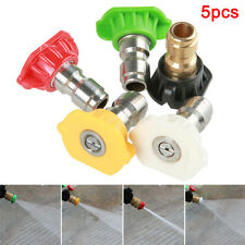 "5pcs Pressure Washer Spray Nozzle Tips Jet 1/4"" Quick Connect 3.0 GPM Car Wash"