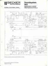 Becker Original Service Schaltplan für CD 963 Soundsystem