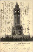 Berlin Grunewald alte Ansichtskarte 1907 gelaufen Partie am Kaiser Wilhelm Turm