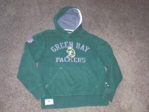 GREEN BAY PACKERS sewn authentic Reebok Vintage Hoodie Sweatshirt men's Small
