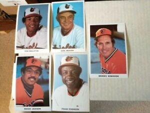 1976+Baltimore Orioles Team Postcard Lot(5) B/F Robinson/Weaver/Reggie/Singleton