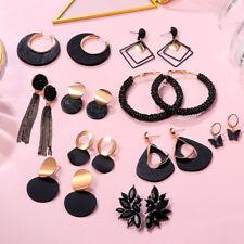 2021 Fashion Women Acrylic Geometric Metal Drop Dangle Stud Earrings Jewelry New