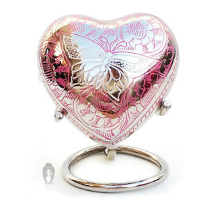 Beautiful Small Portland Pink Heart Keepsake Urn For Funeral Ashes