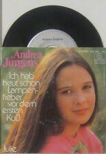 """Andrea Jürgens ich hab heut schon Lampenfieber vor dem ersten Kuss / Julie , 7"""""""