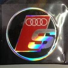 Adesivo logo resina copricerchi copri cerchio cerchione ruota Audi Sport S-line