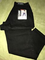 GITANO RELAXED FIT BLACK JEANS 28x30.5/12W  NEW WITH TAGS!