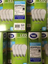 184 PACK LED 60W = 9W Soft White 60 Watt Equivalent A19 2700K E26 light bulb