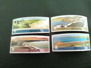 SET OF 4 MNH STAMPS OF SOUTH WEST AFRICA 1980 WATER CONSERVATION DAMS.