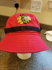 NWOT-CHICAGO BLACKHAWKS-New Era NHL Hat-100% Cotton-Large/Red w/Black Under Brim