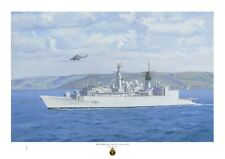HMS CORNWALL A3 size art print from an original painting by Ross Watton