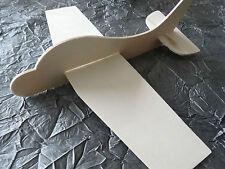 AVION en bois naturel  à monter soi- meme 21 cm support à décorer scrapbooking