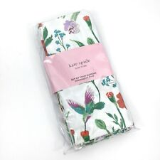 NEW Kate Spade Home Kitchem Set of 4 Hummingbird Floral Dinner Napkins Cotton