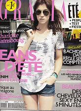 GRAZIA REVUE MAG 2010 - COVERGIRL CHARLOTTE GAINSBOURG - MAGAZINE MODE FEMME TBE