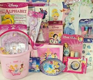 NEW PRINCESS DISNEY CINDERELLA EASTER TOY GIFT BASKET TOYS PLAY SET ANY OCCASION