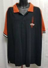 Harley Davidson 1903 black & orange short sleeve polo mens large