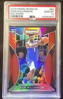 2019 Panini Prizm DP 64 Zion Williamson Red Prizm RC PSA 10