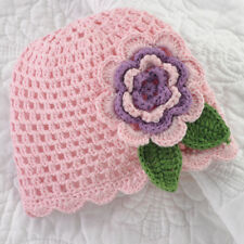 Mud Pie Baby PINK CROCHET FLOWER HAT 192142-2T Mud Pie Baby Buds Collection