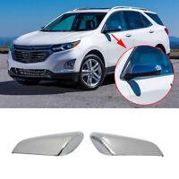 Side Mirror Covers Trim For 2018 2019 2020 2021 Chevy Equinox GMC Terrain Chrome