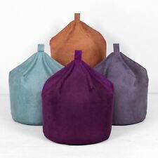 Faux Suede Bean Bag Blue Teal Purple Tan Terracotta Brown Orange Seat Chair