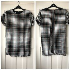 ZARA MULTICOLOUR FRAYED CHECKED TWEED DRESS SIZE UK XS BNWT REF.4661/315