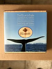 """(2) 2010 ROYAL CANADIAN MINT """"BLUE WHALE"""" $10 SILVER COIN AND STAMP SETS"""
