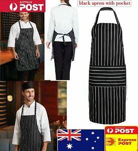 Plain Apron Bib Washable Pocket Butcher Waiter Chef Kitchen Cooking Craft