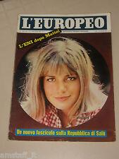 EUROPEO=1962/45=CATHERINE SPAAK=ORGOSOLO=FRANCA VALERI=REPUBBLICA DI SALO=