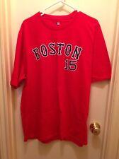 PEDROIA BOSTON RED SOX T SHIRT MLB PLAYER # 15 RED MENS 2XL BASEBALL TEE