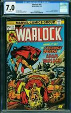WARLOCK 11 CGC 7.0 WHITE PAGES DEATH OF WARLOCK NICE A3
