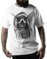 Sullen Mask Mens T Shirt White Skull Tattoo Tee Goth