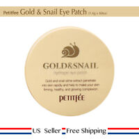 Petitfee Gold & Snail Hydrogel Eye Patch 1.4g 60ea + Free Sample [ US Seller ]