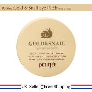 Petitfee Gold & Snail Hydrogel Eye Patch 1.4g 60ea + Free Sample [ US Seller ]