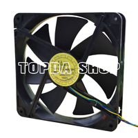 Yate Loon D14BM-12 fan 12V 0.7A 8.4W 140*25mm 2400rpm sleeve bearing pwm 4pin
