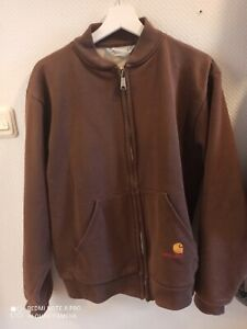 Carhartt Bomberjacke Braun Größe L Vintage Workwear Jacke