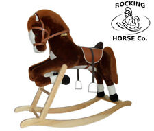 New Plush Rocking Horse - JUMPING HORSE on Rockers Deluxe Finish + Sound Effects