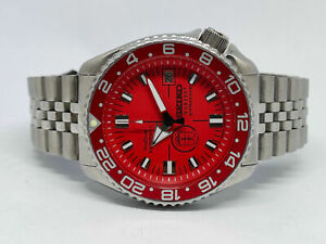 FAULTY 😱 SEIKO DIVER 7002-700A PRODIVER RED SUB200T DIAL MOD MENS WATCH 450095