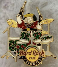 Hard Rock Cafe FOXWOODS 2007 Red Playing Card KING Playing Drums PIN HRC #38258