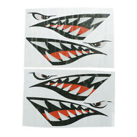 2 Pcs Shark Teeth Vinyl Decal Stickers for Dinghy Boat Kayak Canoe JH