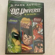 New Factory Sealed DC Universe: Green Lantern, Superman, Justice League (3 DVDs)
