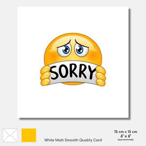 SORRY CARD Emoji Sad Tear Make up Friend Mate Boyfriend Girlfriend OPTIONS