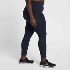 Nike Womens Plus Size Leggings Size 30-32 921323 451 Dark Blue Running Yoga 2X