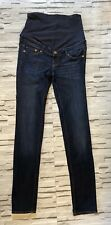 H&M Blue Slim High Rib Maternity Jeans  Size 10  Slim Fit Casual