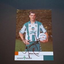 Mladen krstajic SV Werder Bremen firmado 10 x 15 autografiada tarjeta!