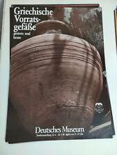 Plakat Griechische Vorratsgefäße Deutsches Museum München 1990 A1 Top!