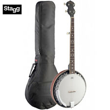 Stagg 5-String BJM30 DL Bluegrass Deluxe Banjo with Metal Pot + Padded Gig Bag