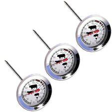 3 Stück Fleischthermometer Edelstahl Thermometer Fleisch Huhn Ganz Braten