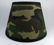 Camo Camouflage Green Fabric Lampshade Lamp Shade Handmade Bulb Clip